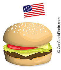 American hamburger