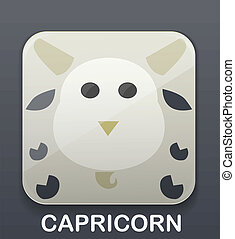 Capricorn zodiac icon