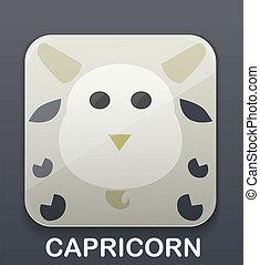 Capricórnio, signos, ícone