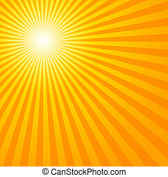 Hot summer sun - Really hot summer sun - illustration