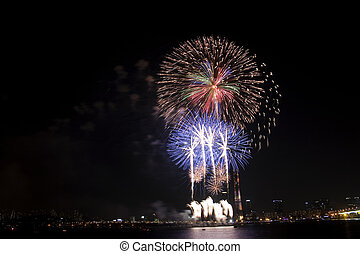 Beautiful Seoul International Fireworks Festival in South...