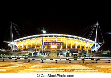 Night View of Korea Sports Complex Stadium