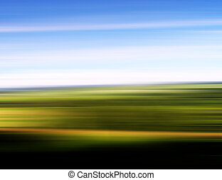 Abstract speed background - landscape with blue sky