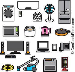 electric appliances 01 - electric appliances, vector file