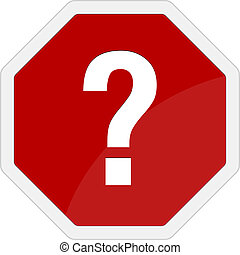question mark traffic sign vector with red background