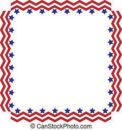 Stars and Stripes Border or Frame - Square box frame made of...