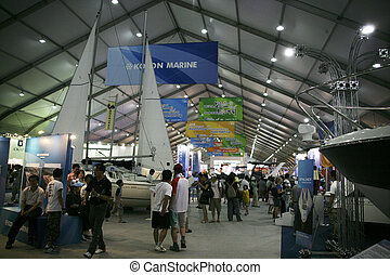 Jeongok World Yacht Exhibition in south korea