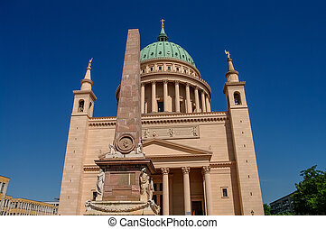 St Nicholas Church in Potsdam, Germany, summer time