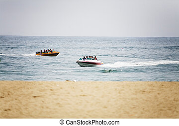 Speed boat on the sea