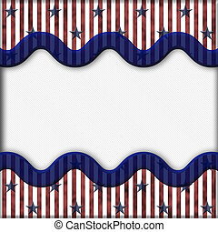 Patriotic Background - Stars and Stripes Textured Fabric...