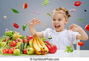 新たに, フルーツ, 食べること