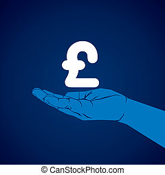 pound symbol in hand vector