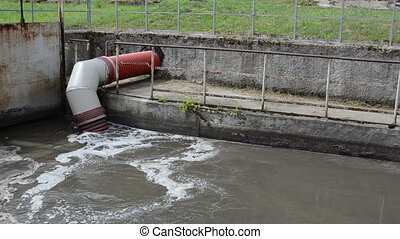 dirty sewage water tube - All city sewage waste water and...