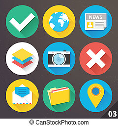 Vector Icons for Web. Set 3.