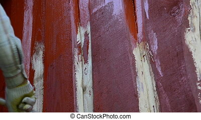 hand paint wood wall