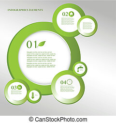 Eco design elements infographic.