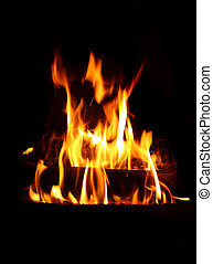 fire background - fine image of classic fire flame with...