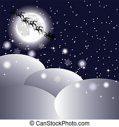 Santa s sleigh in the sky