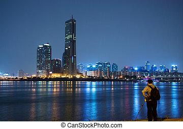 Beautiful Han River in South Korea