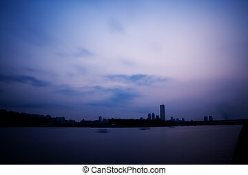 Beautiful Han River in South Korea