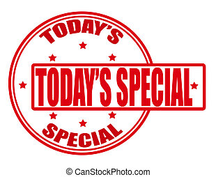 Today special - Stamp with text today special inside, vector...