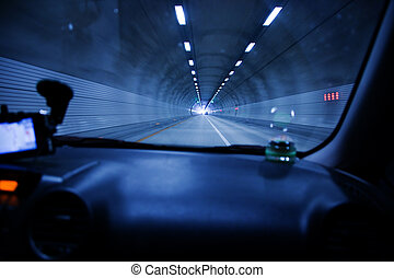 Highway tunnel driving