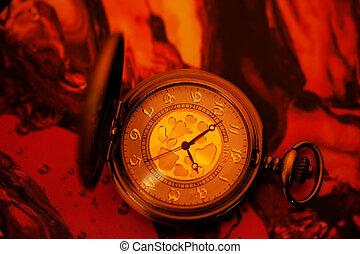 Antique pocket watch.