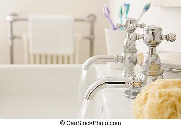 Funcionamiento, cuarto de baño, fregadero