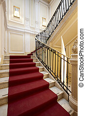 Palace entrance and marble stairway