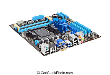 Computer motherboard - Printed computer motherboard board,...