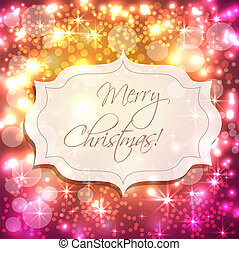 Festive background with lights - Festive New Year background...