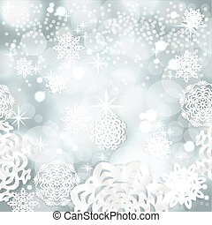 Vintage Christmass background - Blue shining Christmass...