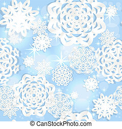 Blue seamless Christmass background - Blue shining seamless...
