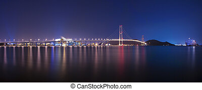 Beautiful bridge in South Korea,Yi Sun-sin Bridge