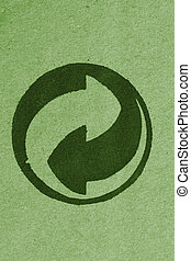 recycle symbol - fine close up image of recycle symbol...
