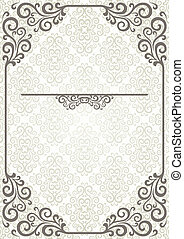 Abstract frame with floral design ornamental elements
