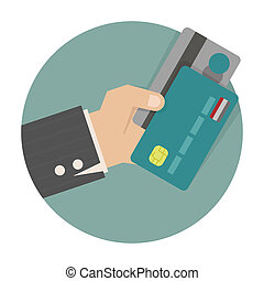 Businessman hand holding creditcard - Businessman hand...