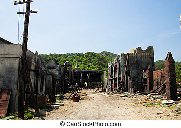 Traditional Village movie theme park in South Korea