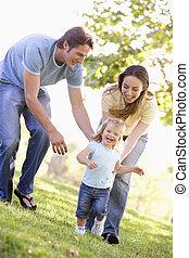 familia, Funcionamiento, Aire libre, sonriente