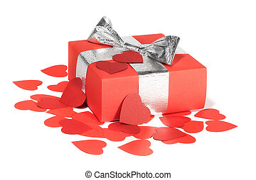 Valentines Day love gift - Valentines Day gift in red box...