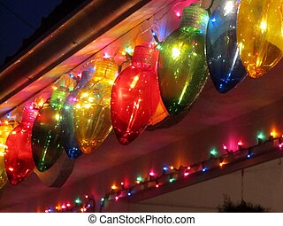 colorful holiday lights