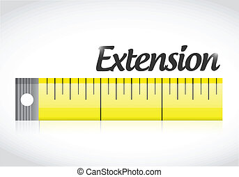 extension measure tape illustration design over a white...