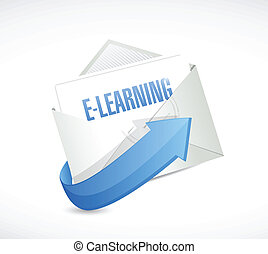 e learning email message illustration design