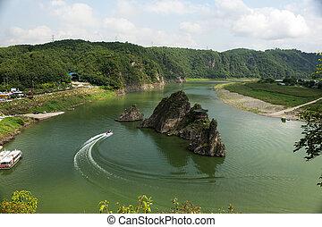 South Korea beautiful Danyang Dodamsambong