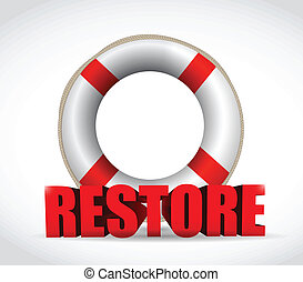 sos restore sign illustration design over a white background