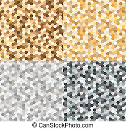 seamless gold and silvery pattern - seamless gold and...