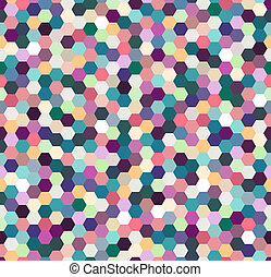 seamless colorful hexagonal pattern