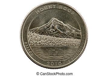 Mount Hood Quarter Coin - Mount Hood Oregon commemorative...