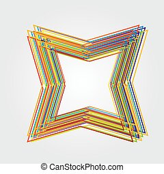 tar made from color lines - Illustration of star made from...