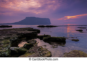 beautiful Jeju Island in South Korea,SeongsanSunrise...